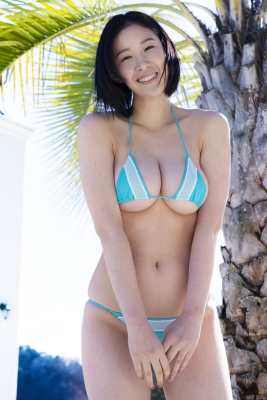 Risa Tomiya swimsuit bikini gravure H breast natural pure body 2021040