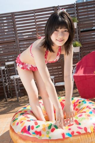 Risa Sawamura Floral Frilled Bikini031