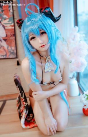 Swimsuit bikini gravure Amare Haragami Genshin Ultrasmall bikini cosplay015