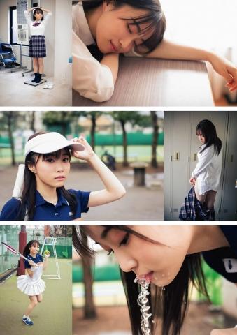Miyu Kishi Swimsuit Bikini Gravure Im going to take a peek at that girl in the tennis club after school002