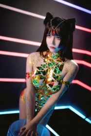 The Golden Legend: A swimsuit with just tape stretched over the body009
