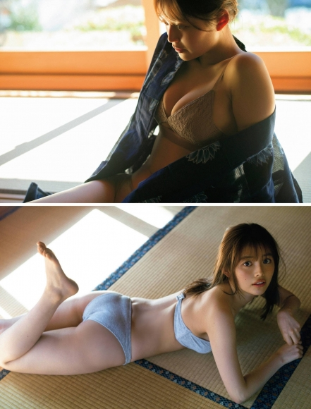 Nanami Mori swimsuit bikini gravure Hot spring trip for two celebrating 20 years old004