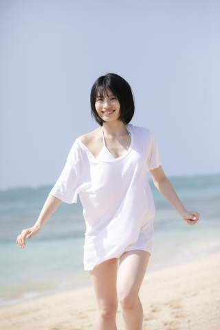 Jyuzu Asakura 18 years old White swimsuit bikini Tsubaki Factory in Okinawa002