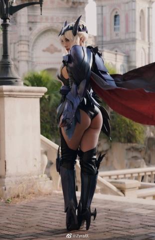 Cosplay Swimsuit Style Costume Luthria Pendragon Black Gun Nerd002