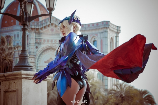 Cosplay Swimsuit Style Costume Luthria Pendragon Black Gun Nerd003