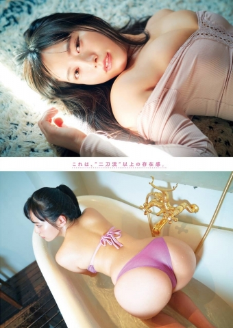 Ummi Shinonome swimsuit bikini gravure Gcup 100cm hip twoway004