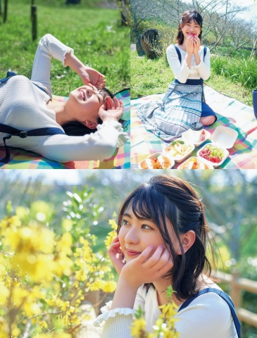 Minami Yamada swimsuit gravure See the overwhelming sense of girlfriend that she showed in the picnic and sleepover date002