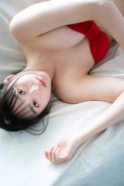 Red swimsuit bikini gravure New beginning019