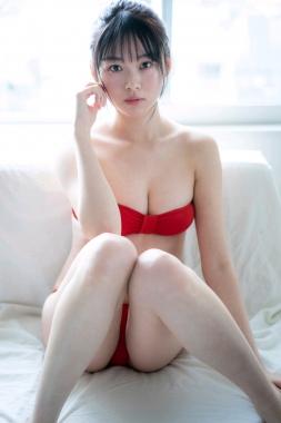 Red swimsuit bikini gravure New beginning026