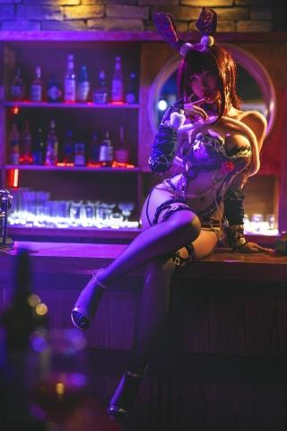 Bunny Girl Bar Scasaha Fate Grand Order014