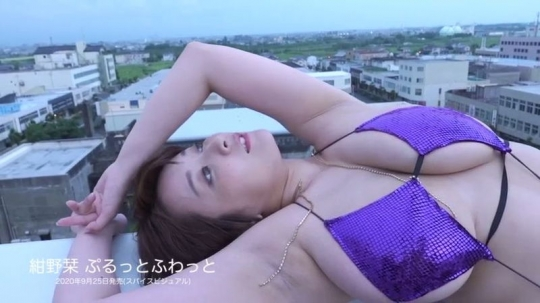 Konno bookmark swimsuit bikini gravure Hcup breasts out of specification036