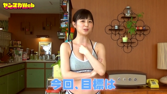 Kurie Mi Dumbbell Curl Challenge Sports Bra Swimsuit035