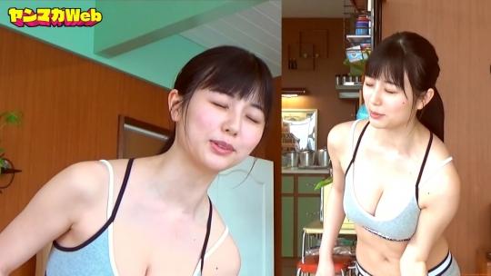 Kurie Mi Dumbbell Curl Challenge Sports Bra Swimsuit050