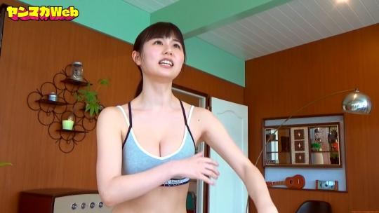 Kurie Mi Dumbbell Curl Challenge Sports Bra Swimsuit055