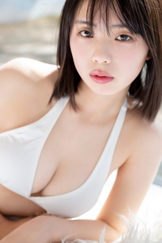 Himena Kikuchi White Swimsuit Bikini Gravure Pure Vol3005