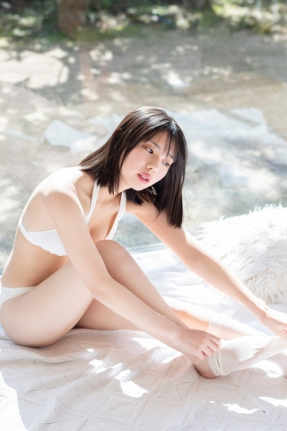 Himena Kikuchi White Swimsuit Bikini Gravure Pure Vol3007