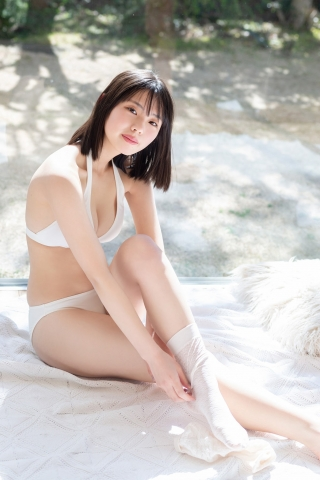 Himena Kikuchi White Swimsuit Bikini Gravure Pure Vol3008
