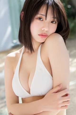 Himena Kikuchi White Swimsuit Bikini Gravure Pure Vol3010