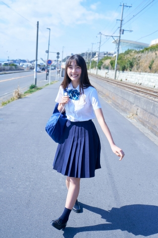 Rumika Fukudas First Swimsuit A New FirstYear High School Rookie002
