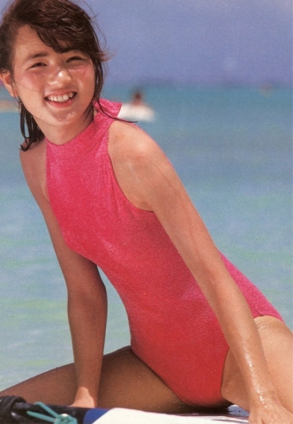 Yoko Ishino swimsuit bikini gravure 1985 debut023