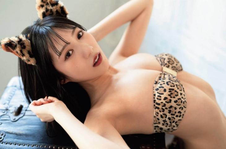 Sumire Yokono swimsuit bikini gravure Cute female panther006