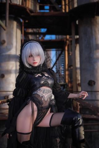 Sexy Costume 2B Nia Automata Cosplay003
