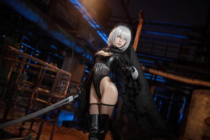 Sexy Costume 2B Nia Automata Cosplay007