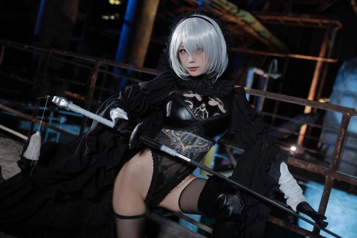 Sexy Costume 2B Nia Automata Cosplay025