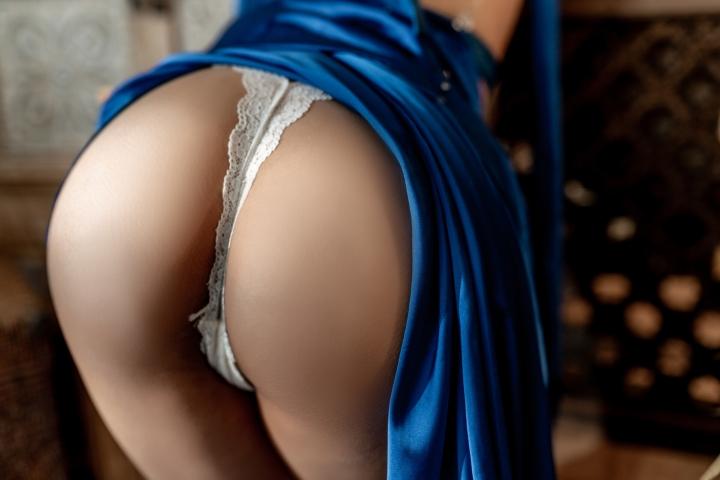 Blue Dress Azure Lane Kaga White Skimpy Lingerie036