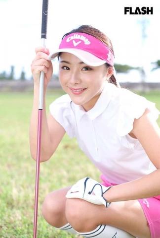 Noda Sumire swimsuit gravure Golden generation of golf active professional golfer004