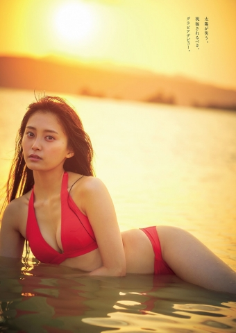 Rina Koyama swimsuit gravure 18 years old with an overwhelming sense of transparency012