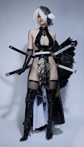 Cosplay Swimsuit Style Costume 2B Nier Automata NieR_Automata002