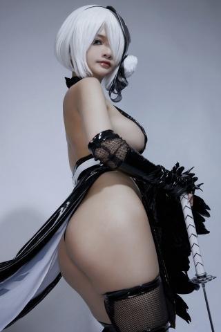 Cosplay Swimsuit Style Costume 2B Nier Automata NieR_Automata006