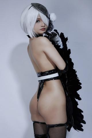 Cosplay Swimsuit Style Costume 2B Nier Automata NieR_Automata009