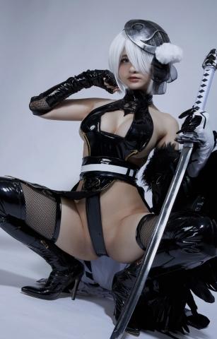 Cosplay Swimsuit Style Costume 2B Nier Automata NieR_Automata008