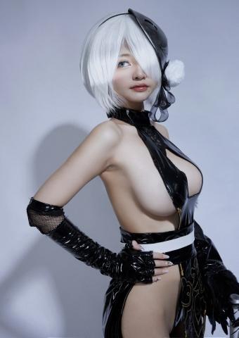Cosplay Swimsuit Style Costume 2B Nier Automata NieR_Automata012