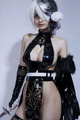 Cosplay Swimsuit Style Costume 2B Nier Automata NieR_Automata011