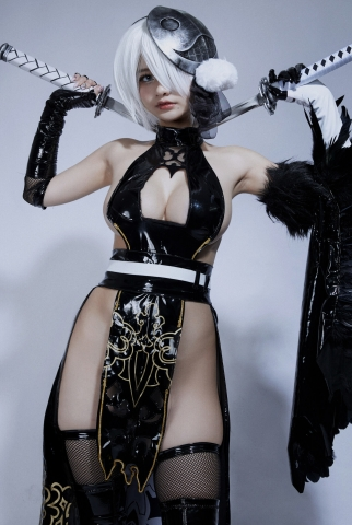 Cosplay Swimsuit Style Costume 2B Nier Automata NieR_Automata013