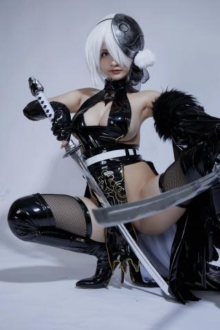 Cosplay Swimsuit Style Costume 2B Nier Automata NieR_Automata016