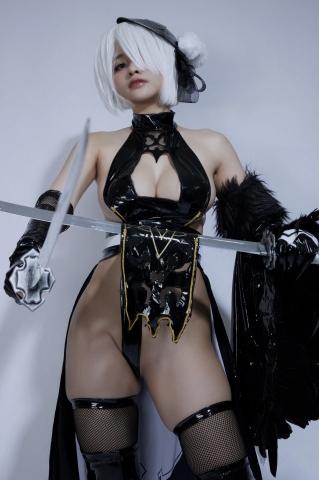 Cosplay Swimsuit Style Costume 2B Nier Automata NieR_Automata017