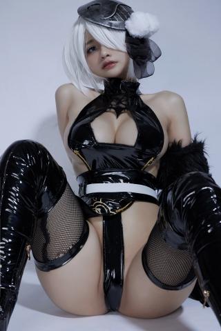 Cosplay Swimsuit Style Costume 2B Nier Automata NieR_Automata024