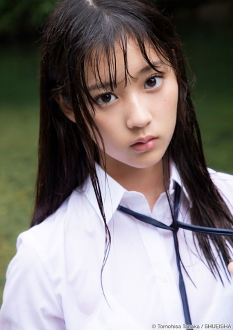 Arina Mitsuno Swimsuit gravure Beautiful girl with big eyes013