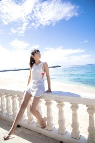 Arina Mitsuno Swimsuit gravure Beautiful girl with big eyes019