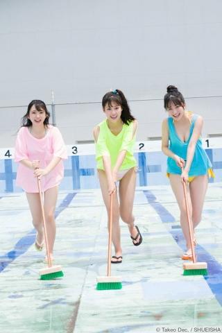 Arina Mitsuno Swimsuit gravure Beautiful girl with big eyes023