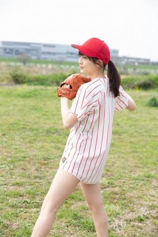 Nanako Kurosaki Baseball Girl and School Swimsuit004