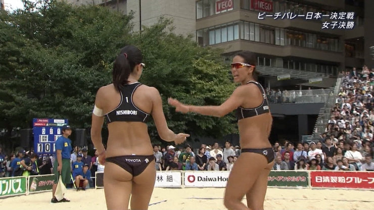 Takemi Nishibori Beach Volleyball Bikini Bites Japans No1 Beach Volleyball Tournament: Womens Final005