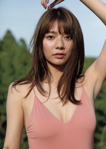 Asuka Kawazu Camping swimsuit gravure007