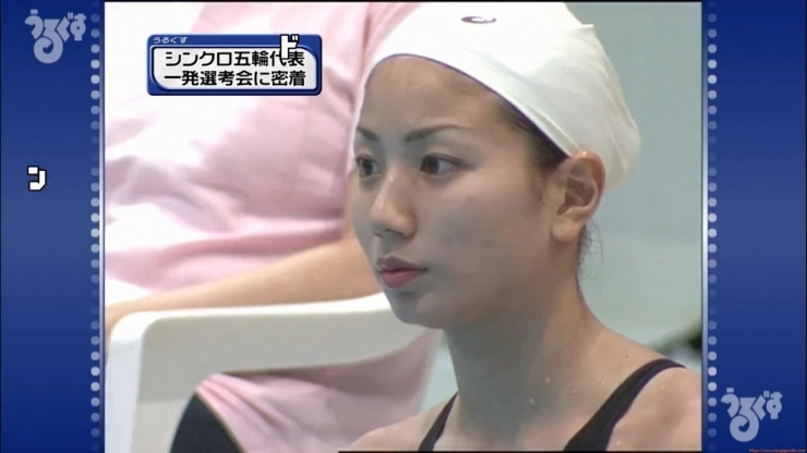 Aoi Aoki swimsuit swimsuit image Synchronized with the first round of the Olympic Games016