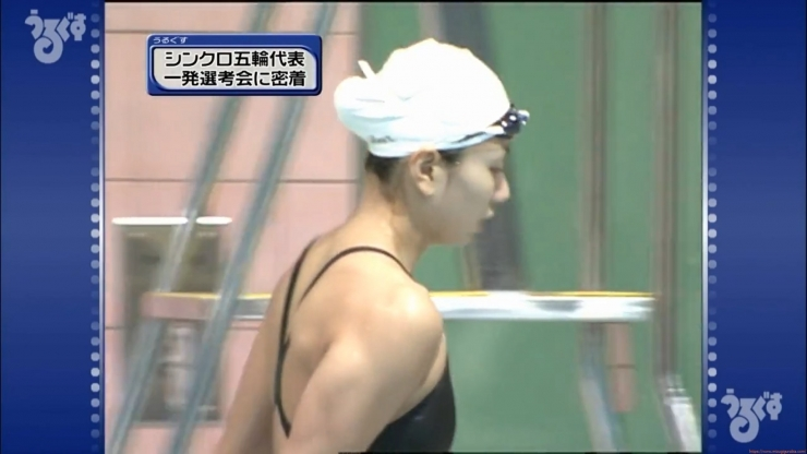 Aoi Aoki swimsuit swimsuit image Synchronized with the first round of the Olympic Games033