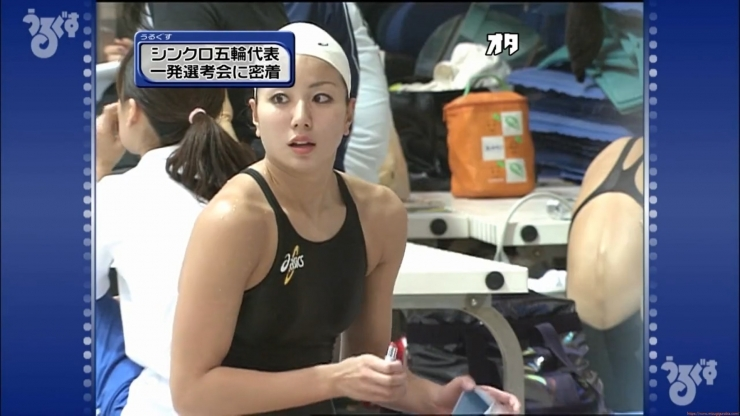 Aoi Aoki swimsuit swimsuit image Synchronized with the first round of the Olympic Games040
